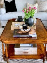 If you have a sectional, measure the length of the horizontal seat and not the entire sofa. Five Basic Steps To Style Your Coffee Table Classic Casual Home Simple Coffee Table Coffee Table Styling Coffee Table