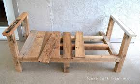 cool pallet furniture. How I Built The Pallet Wood Sofa (part 2) Via Funky Junk Interiors Cool Furniture O