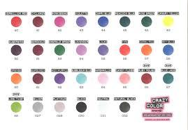 Jade Colour Chart Crazy Color Semi Permanent Hair Color Cream 100ml 67 Blue Jade