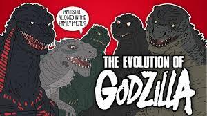 Godzilla Evolution Chart The Evolution Of Godzilla Animated