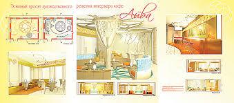Нижегородское Художественное Училище Дизайн 5 gubanova olesya interer kafe aiva