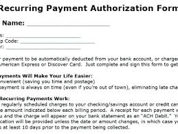 Recurring Payment Authorization Form Recurring Payment Authorization Form Template Awesome Electronic