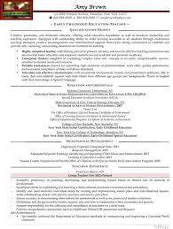 Early Childhood Education Resume Enchanting Early Childhood Education Teacher Resume Sample Resume Samples