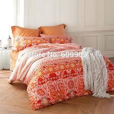 duvet covers custom bedding orange bohemian and style cotton soft fabric bed sheets duvet custom printed