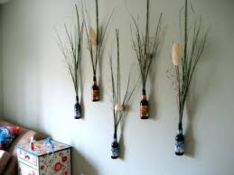 easy homemade wall art ideas i love this so awesome beer and flower wall decor home easy homemade wall art ideas