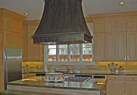 Creative Kitchen Island Kitchen Copper Island Range Hood With Lighting With Glass