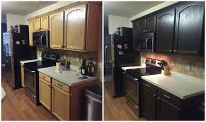 diy painting kitchen cabinets before and after countertops paiting rustoleum expresso kit espresso you spray paint