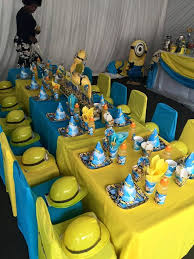 Our custom made Minions party supplies include personalised pvc banners,  party packs, movie boxes