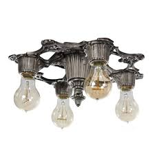 sold beautiful antique flush mount chandelier welsbach co