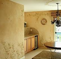 faux painting kitchen walls with stencils