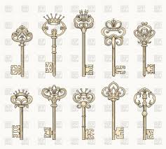 ancient keys for old door vector image vector artwork of icons and emblems vectortatu to zoom