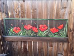 neoteric poppy wall art old recycled window screen red zoom metal canva garden framed vinyl glass