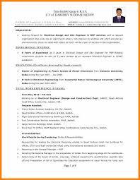 Electrical Engineering Cv Format Electrical Maintenance Engineer