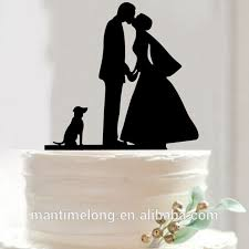 Bride And Groom Cake Topper Acrylic Silhouette Wedding Cake Topper