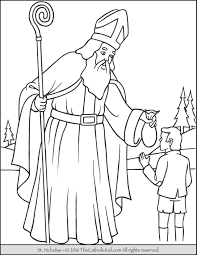 Small Picture Saint Nicholas Coloring Page TheCatholicKidcom