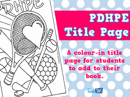 art cover page ideas pdhpe title page teacher resources and classroom games teach this