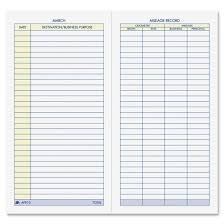 Mileage Record Sheet Vehicle Mileage Log Template