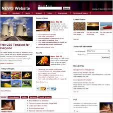 Website Template Newspaper News Free Website Templates In Css Html Js Format For Free