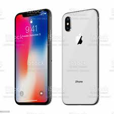 White Rotated Apple Iphone X With Ios ...