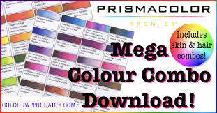 Prismacolor Pencil Blank Color Chart Mega Prismacolor Combo Chart Colour With Claire