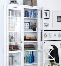 ikea hemnes bookcase with glass doors