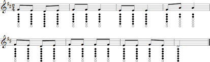Mary Had A Little Lamb Flute Finger Chart Mary Had A Little Lamb Sheet Music For Tin Whistle Tin