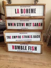 retro style light box cinema sign