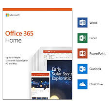 Word For Office Microsoft Office 365 Home Up To 6 Users 1 Year Pc Mac Download
