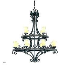 wrought iron candle chandelier kc lamps vintage country candelabra romantic led glass