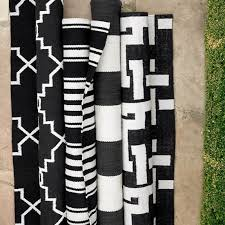 riviera stripe indoor outdoor rug black saved view larger roll over image to zoom