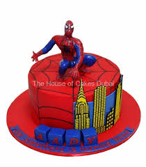 Spiderman Cake In Dubai