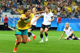 photo essay and draw in thriller  sam kerr turns to celebrate s opening goal against ann odong for excelle