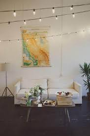 lighting options for living room. Ceiling String Lights In The Living Room : Ways To Hang Lighting Options For E
