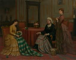 Princess beatrice of the united kingdom, va, ci, gcvo, gbe, rrc, gcstj (beatrice mary victoria feodore; Alexander Melville Active 1846 86 Queen Victoria Princess Helena And Princess Beatrice Knitting Quilts For The Royal Victoria Hospital Netley