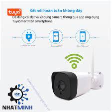 Camera IP Wifi Chống Nước Ngoài Trời 1080P Tuya - dientuthongminh.vn