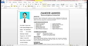 How To Make Resume On Word Templates Write Create In Microsoft