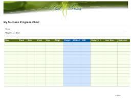 Weight Loss Progress Chart Download Printable Pdf