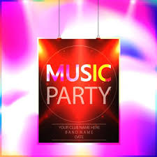 Party Template Music Party Poster Party Flyer Template Vector Download Free