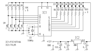 circuit pattern drawing of led flasher