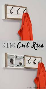 Wall Coat Rack With Storage Remodelaholic Build A Wall Coat Rack With Hooks And Hidden Storage 77