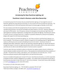 Peachtree Lighting Introducing The New Peachtree Lighting Llc Peachtree Is Back In