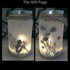 lighting in a jar. night light mood lighting fairy sitting in a jar by thegiftpage