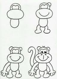 Scimmia Attivita Bimbi Come Dipingere Cose Da Disegnare E