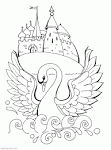 Царевна лебедь картинки раскраски