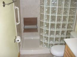 ... Contemporary Bathroom Decoration Using Various Walk In Shower With Seat  : Awesome Small Bathroom Decoration Design