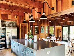 Barn Lights For Kitchen Gooseneck Barn Lights Bring Nautical Vibe To Kitchen Blog