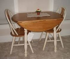 Kitchen Drop Leaf Round Kitchen Table On Kitchen Within Vintage Table Two Chairs  Drop Leaf Hand