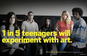 advertising agency team detroit spoofed anti drug psas for an ad campaign for art school college for creative studies anti advertising agency office