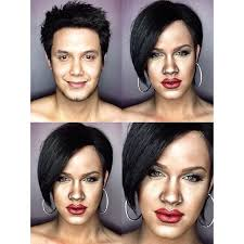 rihanna funny photos anese man turns into anese woman with makeup