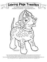 sparky the fire dog craft. find the real sparky coloring page fire dog craft